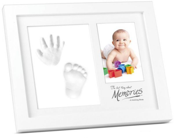 baby foot hand print frame kit for home decor nice gift photo wood frame girls and boy