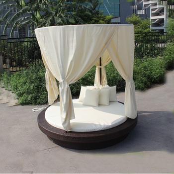 Garden Rattan Sofa Sun Bed Patio