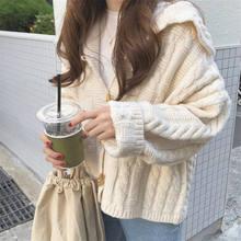 Однотонные элегантные женские кардиганы, Повседневные вязаные женские свитера, пальто, облегающая осенне-зимняя одежда для женщин(Китай)