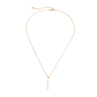 x981542d New Designs Moda Handmade Simple Chains Single Pearl Dangle Everyday Necklaces Online