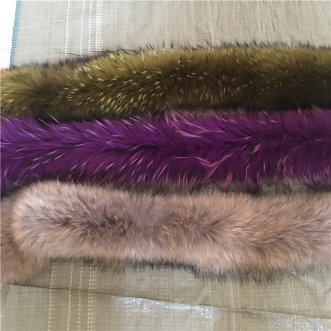 Fur hood trim real raccoon fur collar