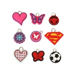 Popular cute various shapes zipper head small pendant keychain diy dedicated