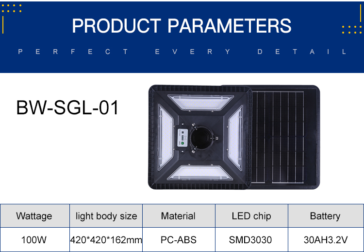 Hot Jual Lanskap Outdoor Taman Tahan Air IP65 100W Led Surya Lampu Taman