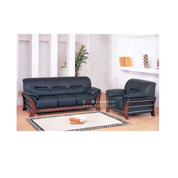 Leather Sofa Furniture Wooden Set