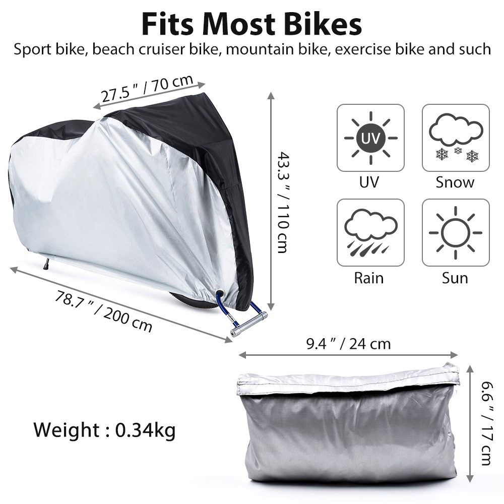 Sunshade electric motor accessories bike set cover for outdoor bicycle storage