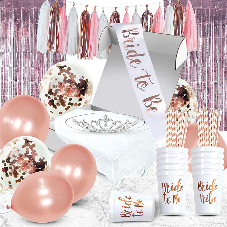 PARTYCOOL Rose Gold Decor Kit Hochzeit Dekorationen Braut Dusche Bachelorette Party Liefert
