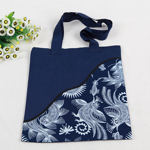 Intangible cultural heritage manual miao batik natural plants hand-painted shopping bags of tourist souvenirs