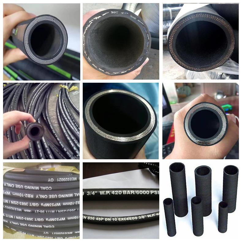 6-51mm 2 zoll Geflochtene stahl draht verstärkt flexible öl saug industrielle hochdruck draht hydraulische gummi schlauch