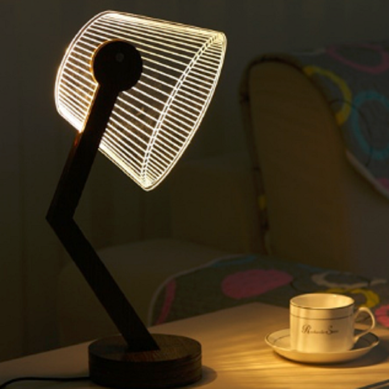 Dropshipping: LED Tisch Lampe Mit 3D Wirkung Stereo Vision