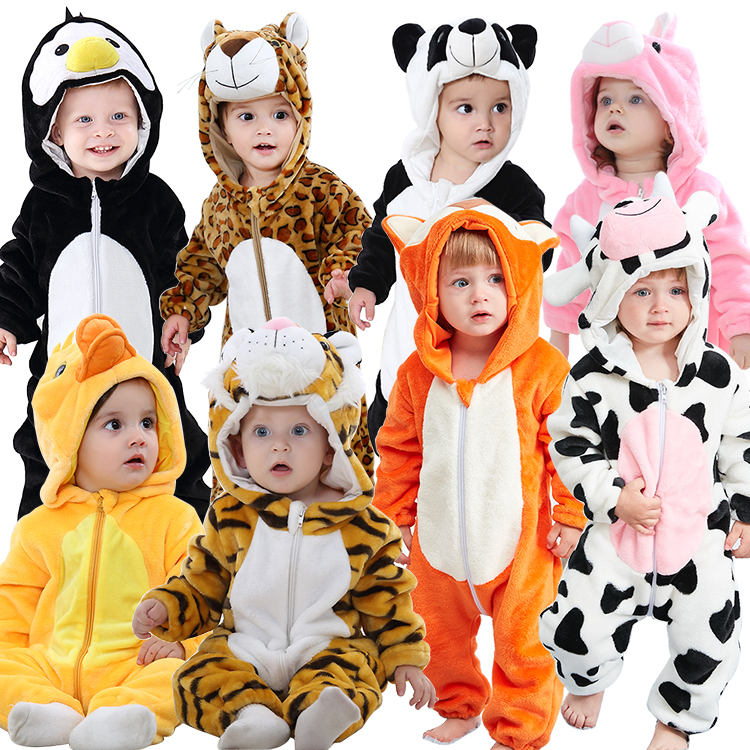 MICHLEY Winter Baby Rompertjes Pasgeboren Cosplay Animal Baby Jongens Kostuums