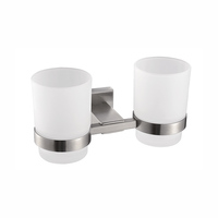 Bathroom glass tumbler holder double wall tumbler cups