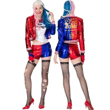 <span class=keywords><strong>Sexy</strong></span> Femmes Cosplay Suicide Squad Super Méchant Collection Fête Halloween Joker Harley Quinn Déguisement Adulte