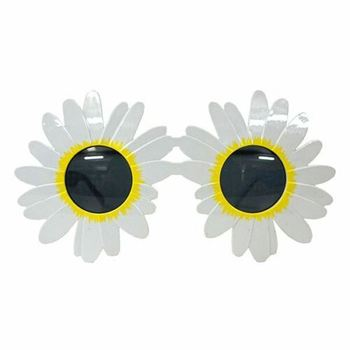 Sun Flower Kids Sunglasses Pretty White Big Daisy Flower Sunglasses Retro Summer Festival