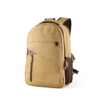 Wholesale China casual vintage canvas laptop backpack with pen organizer high school bag for boy fashion durable bagpack casual