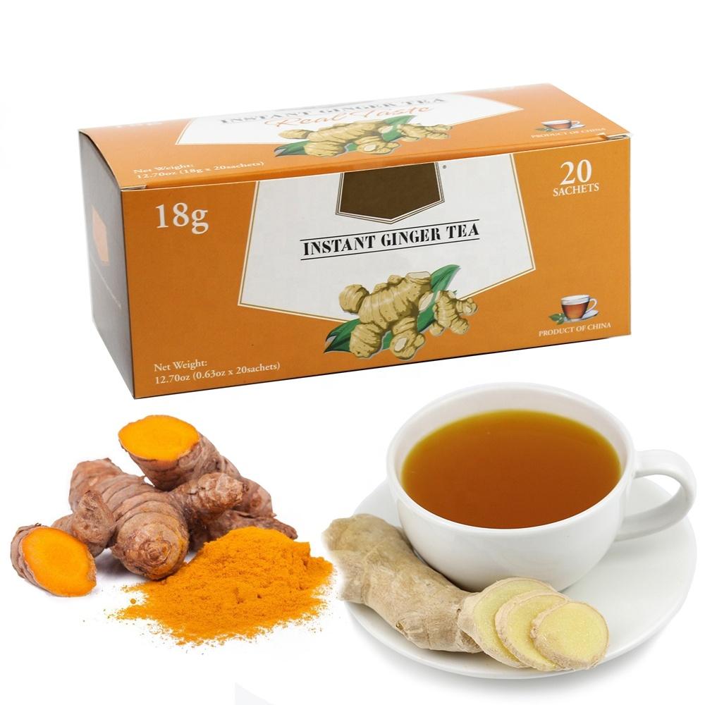 Instant Turmeric Ginger Drink,18gx20'sx40boxes/ctn OEM,Ginger Tea with Turmeric 2373 - 4uTea | 4uTea.com