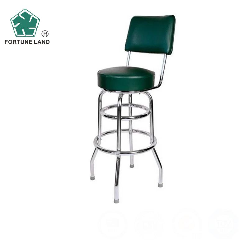 Trinity 30'' Chrome Swivel Used Outdoor Bar Stool Furniture