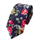 Fashion accessory floral skinny tie set cotton necktie for men