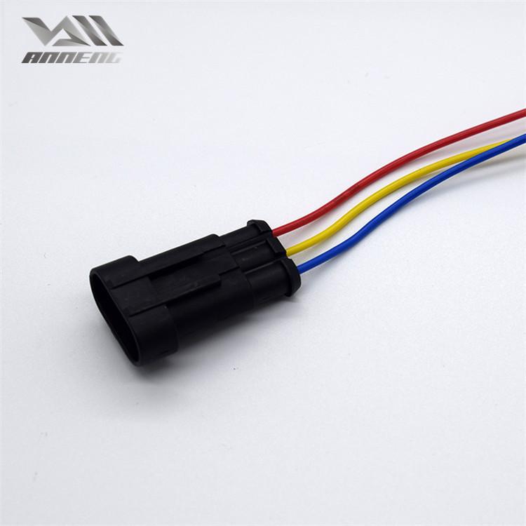 Professional custom auto car bulb lamp holder 3 hole waterproof light male plug socket