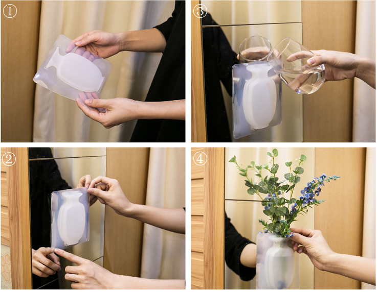COOLNICE Modern flat silicone mini shapes home decoration flower vase