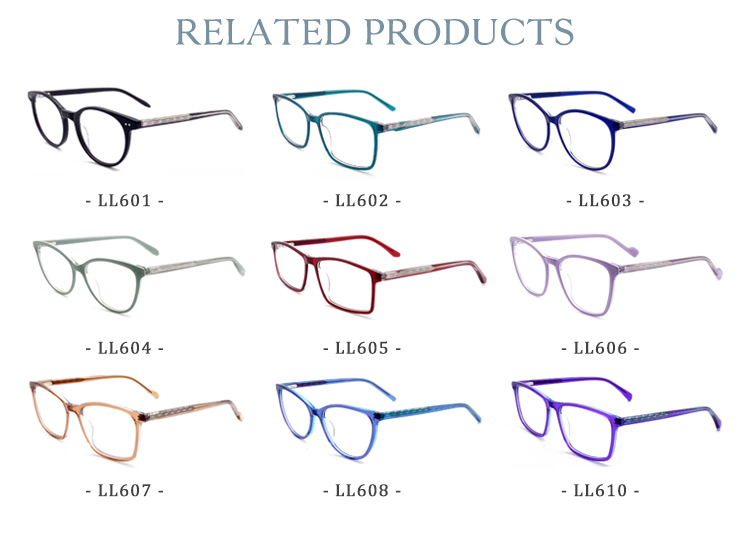 Top quality cheap colorful acetate eye glasses optical eyewear frames