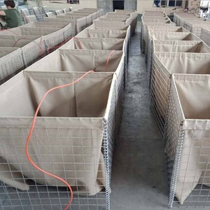 Sand filled hesco blast wall military fortification system price/ Hesco bastion flood barrier control military sand wall
