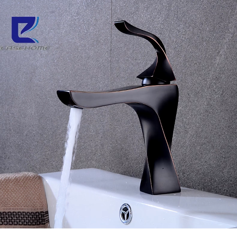 2020 ニューシングルハンドル浴室の洗面台冷温水黒起毛シンク蛇口ミキサー