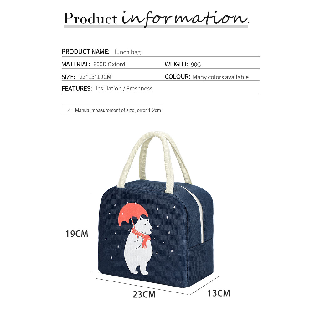 product-tue cartoon lunch bag for women new pink panda girl hand cooler bags portable thermal school