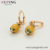 97712 Xuping new design fashion 14k gold plated jewelry pineapple  shape drop earrings for women