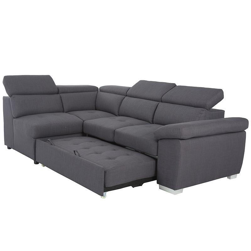 Terbaik Menjual Furniture Ruang Tamu Adjuatsble Headrest Penyimpanan Kursi Sectional Modular Sofa Tempat Tidur