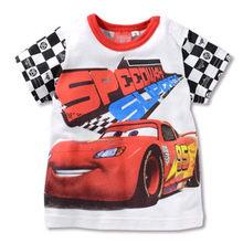 Летние футболки для мальчиков с принтом автомобилей 95 McQueen, хлопковая футболка с короткими рукавами, детская одежда с мультипликационным пр...(Китай)