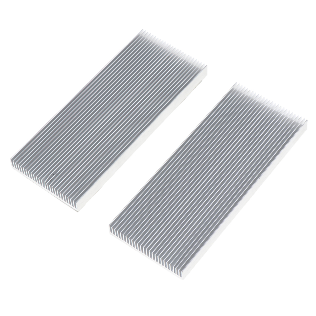 Pack of 2 Semiconductor Transistor Heatsink Fin for Electrical Equipment Cooling Fan Computer Component Accessory 100x41x8mm