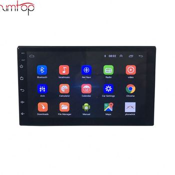 Bluetooth Touch Screen 1 Din 7 Inch Retractable Android Car Dvd Player Multi Media Auto With Gps Function
