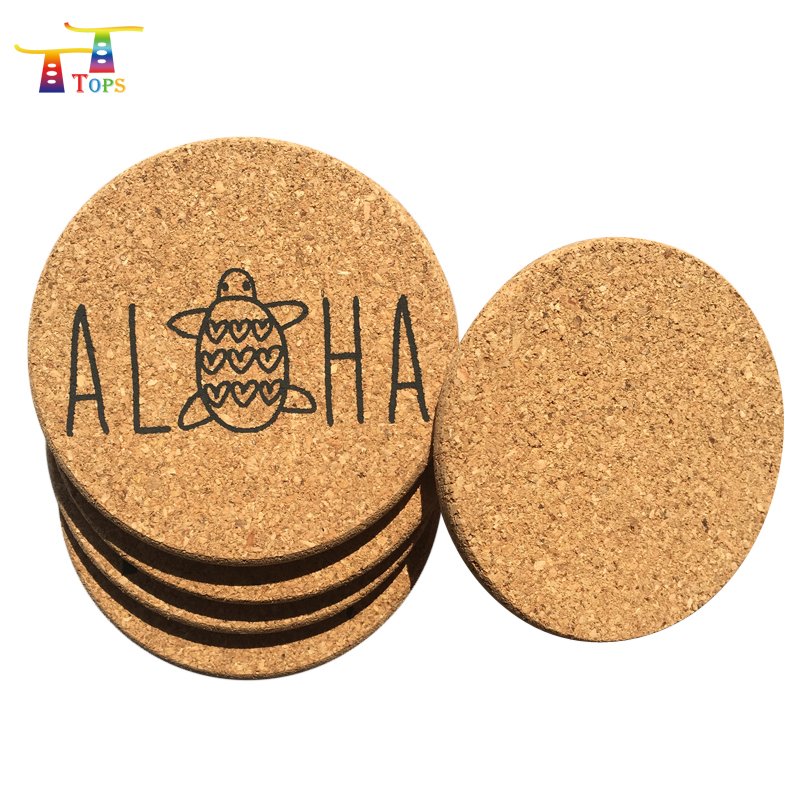 Coffee Cork Mdf Felt Coster Set Promotional Different Types Of Table Setting Debossed Embossing Gold Foil Hot Stamp Coaster