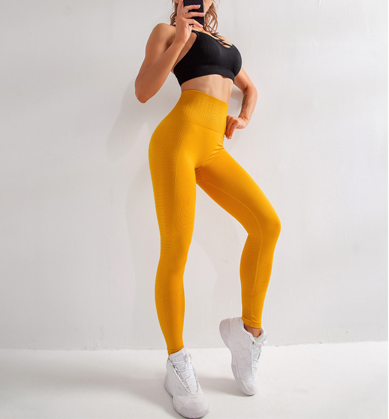Shenzhen Ljvogues Newest Three-color Peach Hip High Waist Tight  Fitness Compression Seamless Pants 9