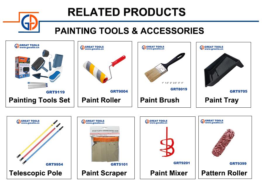 PET wire /Bristle grass wood handle good quality paint brush