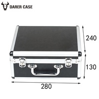DPE026 280*240*130mm lockable metal carry tool case for equipment