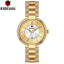Новое поступление Топ люксовый бренд Kademan женские кварцевые часы модные женские наручные часы с кристаллами и бриллиантами водонепроницае...(Китай)
