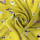 Textile Wholesale Custom Digital Printed Service Silk Crepe Fabric