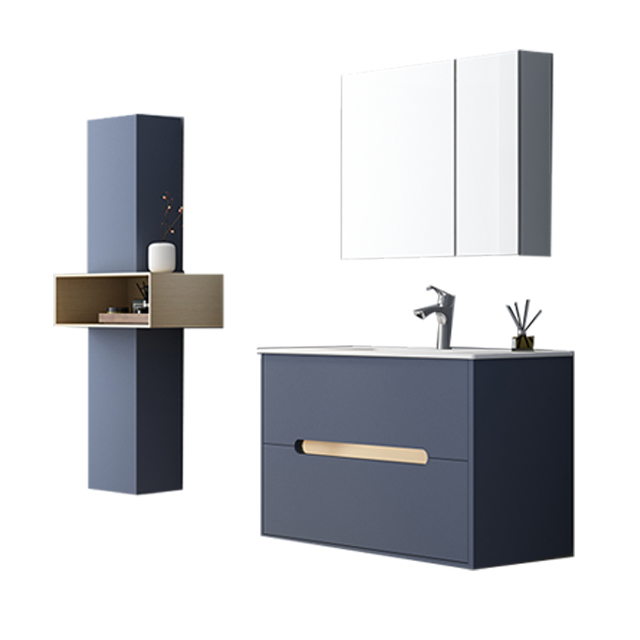 2020 top sale  customized popular blue modern bathroom vanity
