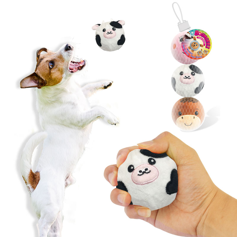 ペットの噛むおもちゃとぬいぐるみの跳ねるボール犬の跳ねるボールのためのぬいぐるみのペットテニスボール