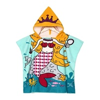 Microfibre cartoon bathrobe Hooded Towels for Kids Baby Boys Girls Toddlers Child Poncho beach towel microfiber