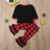 Christmas Black Top Matching Buffalo Plaid Printed Pants Pajamas Kids Baby Girls Pajamas