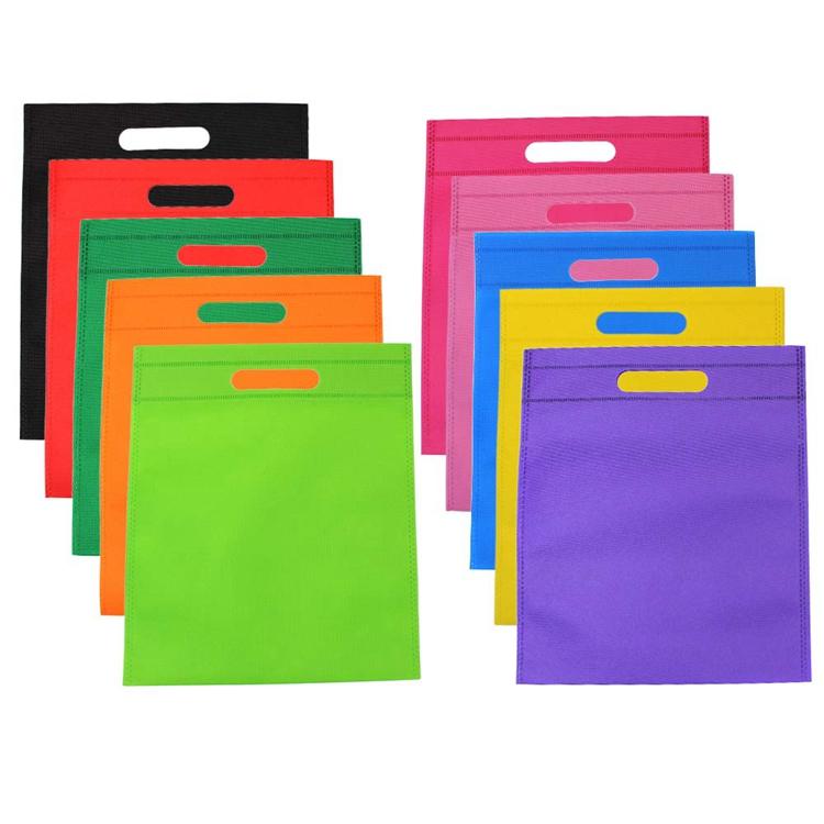 प्रचार कस्टम पुन: प्रयोज्य शॉपिंग मरने के लिए पीपी nonwoven सामग्री ढोना डी कट गैर बुना ब्रांड बैग