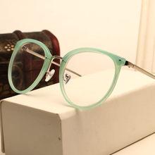 NYWOOH кошачий глаз очки женские прозрачные оправы для очков винтажные прозрачные линзы оптические металлические очки для близорукости(Китай)