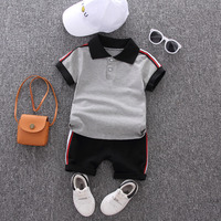 Baby boy summer suit 2020 new baby children's clothing summer short-sleeved two-piece jacket + pants