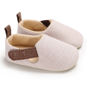Wholesale baby boy casual canvas shoe soft cloth shoes easy slip-on stretch knit fabric walking boy shoes