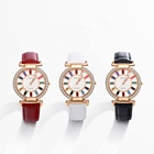Watch-1 xuping new arrival women luxury crystal rose gold plated leather watch Crystal From Swarovski