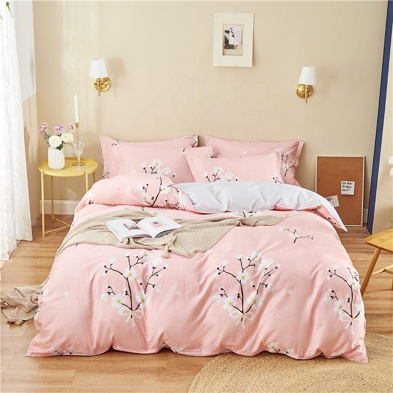 100% Cotton Satin Mền Bộ Đồ Giường Comforter Đặt Tấm Ga Trải Giường Gối Chăn Che Đơn/Đôi/Vua Kích Thước Người Lớn Bông