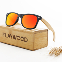 Custom Logo Bamboo Wood Sunglasses Polarized CE FDA Approved