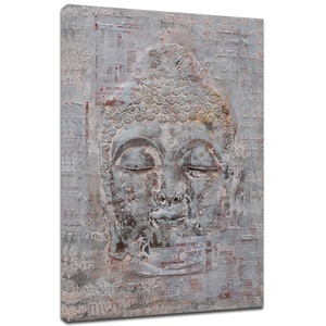 Own Design Handmade Buddha Oil Painting On Canvas
